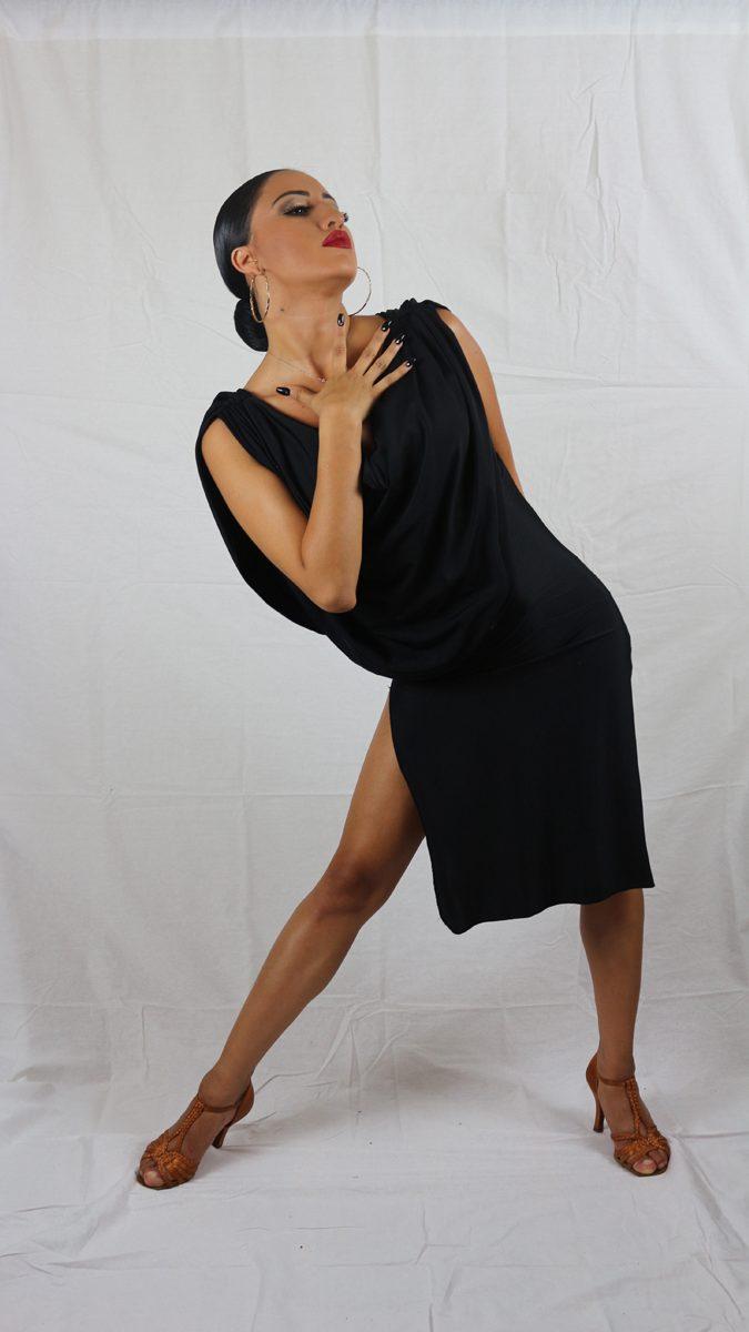 Black latin practice dress
